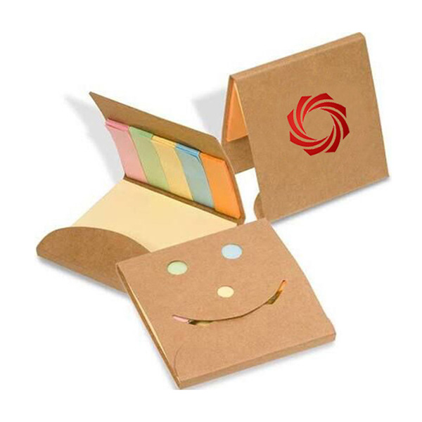 SN-8010 Eco Recycled Pocket Memo Pad Cover With Die-cut